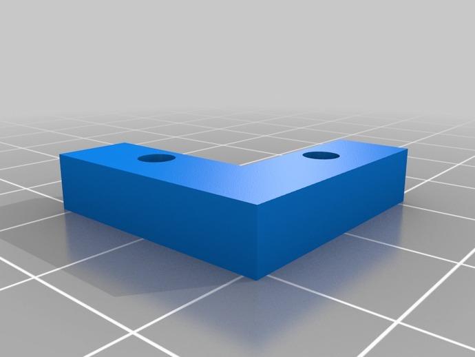 玻璃板固定器 3D打印模型渲染图