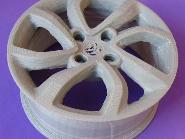 雪铁龙汽车车轮 3D打印模型渲染图