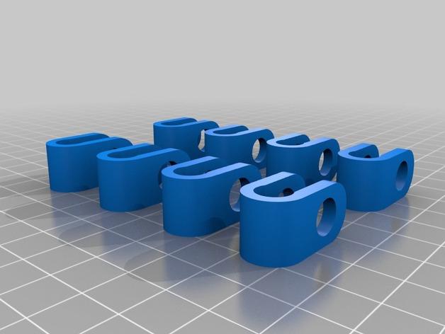 Prusa air 2打印机的轴杆夹 固定夹  3D打印模型渲染图