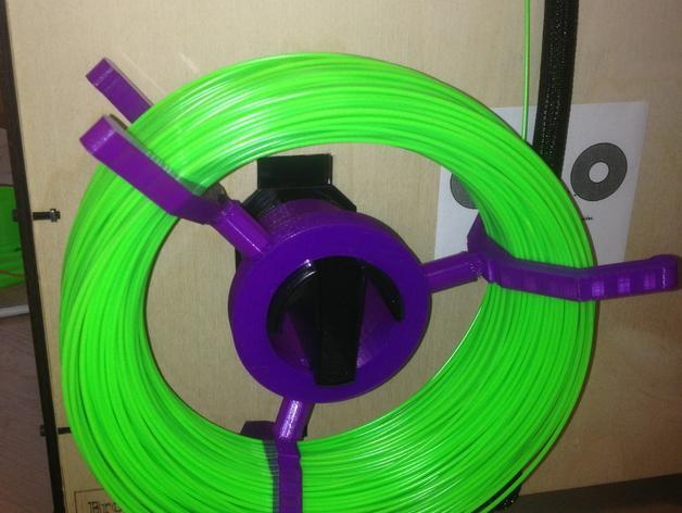 可调节尺寸的线轴支架 3D打印模型渲染图