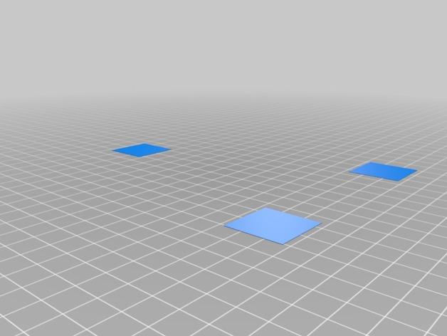 校准打印测试 3D打印模型渲染图