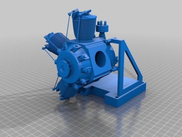 星型发动机 3D打印模型渲染图