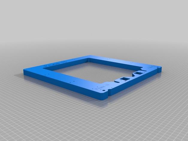 prusa i3打印机的框架结构 3D打印模型渲染图