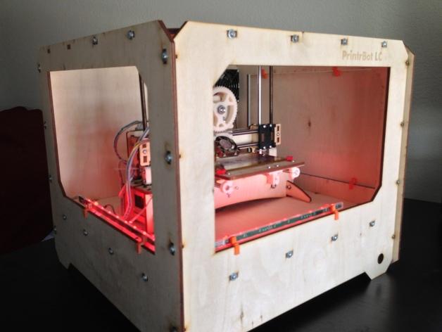 打印机外罩 3D打印模型渲染图