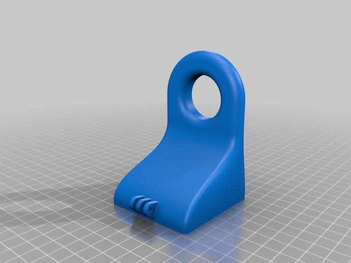 挤出机/材料散热器支架 3D打印模型渲染图