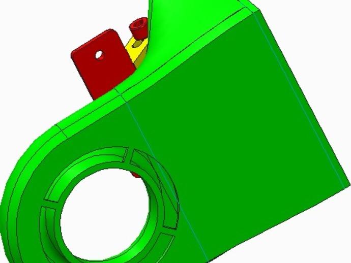 挤出机/材料散热器支架
