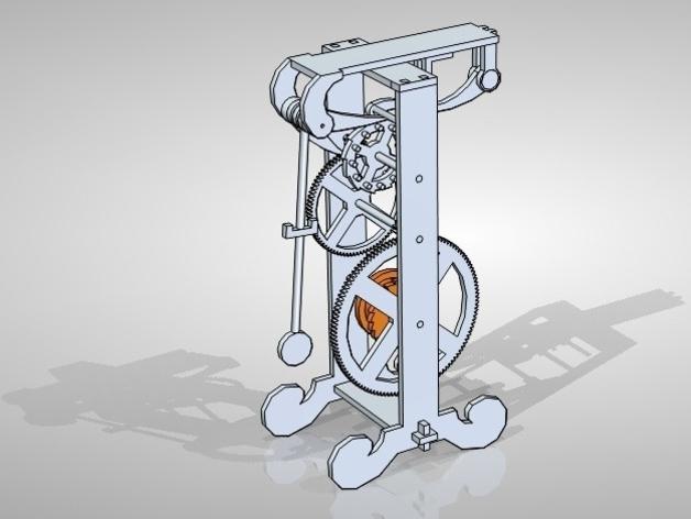 伽利略的摆钟 3D打印模型渲染图