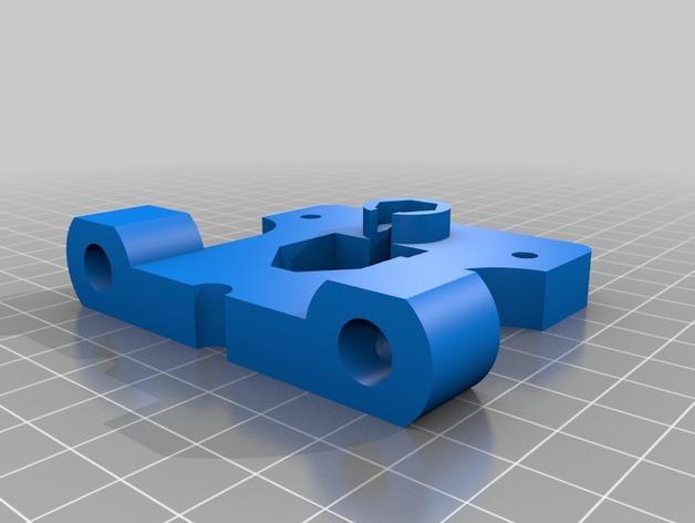 prusa打印机的鲍登挤出机支架 3D打印模型渲染图