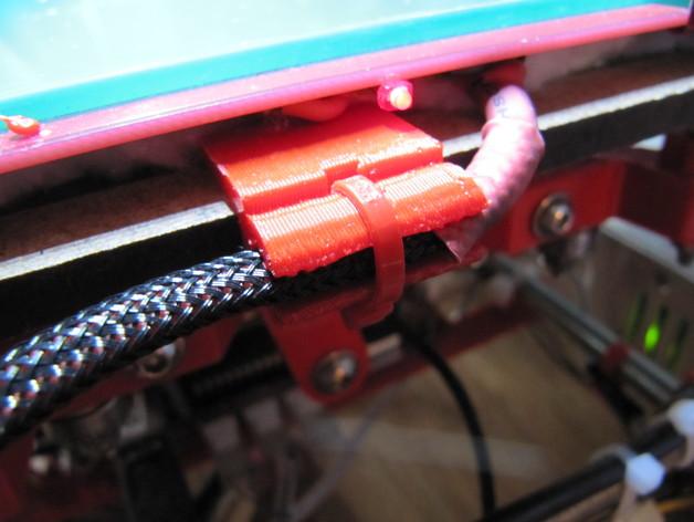 打印机热床电缆夹 3D打印模型渲染图