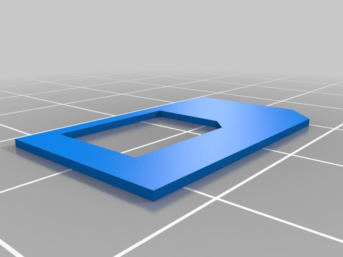 SIM卡适配器 3D打印模型渲染图