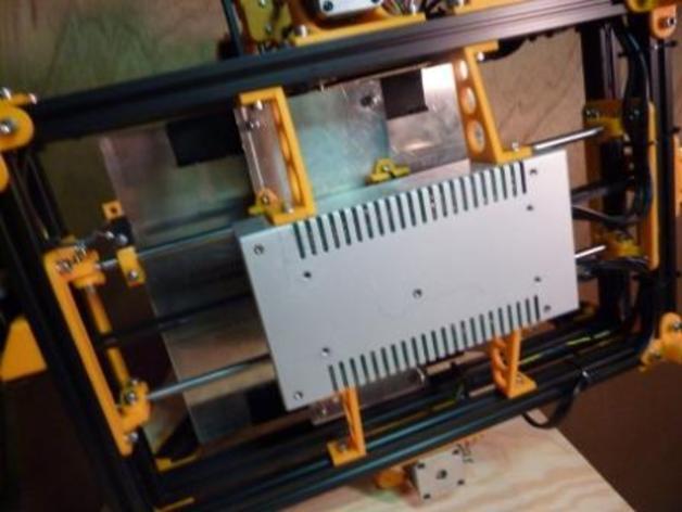 电源外壳 电源支架 3D打印模型渲染图
