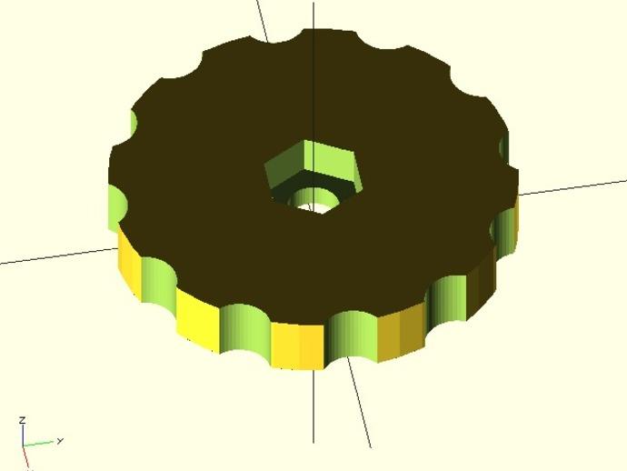 拇指旋轮 3D打印模型渲染图