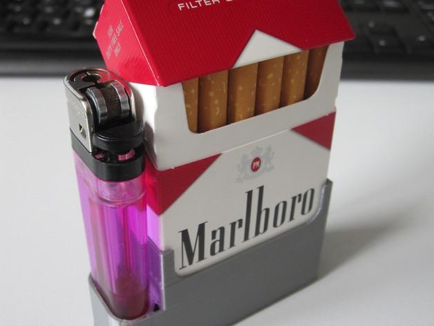 香烟盒 打火机架