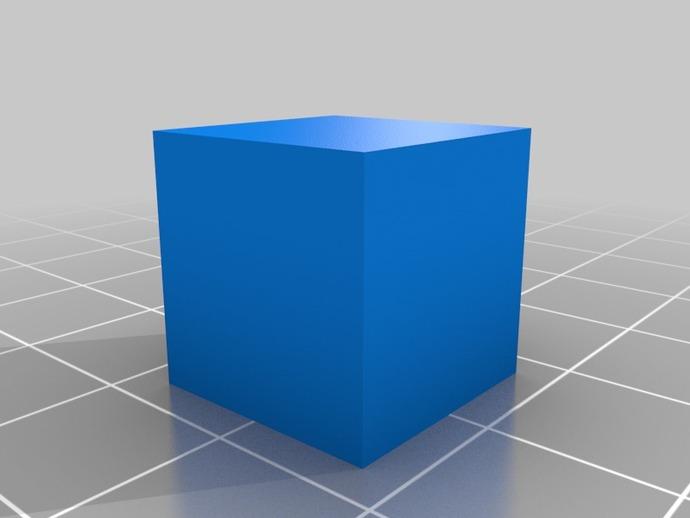 15毫米的方块 3D打印模型渲染图
