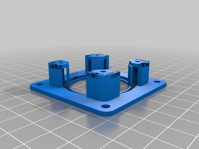 Nema 17步进电机适配器 3D打印模型渲染图