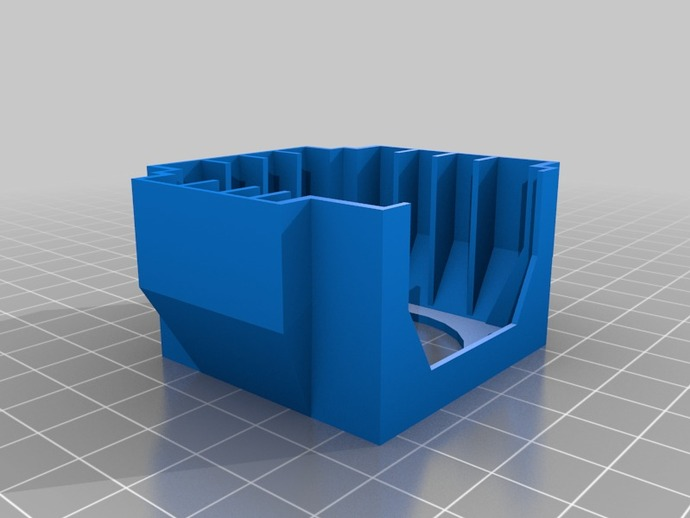 马达风扇支架 3D打印模型渲染图