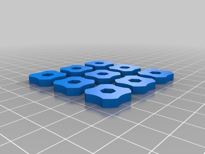调平器小轮子 3D打印模型渲染图