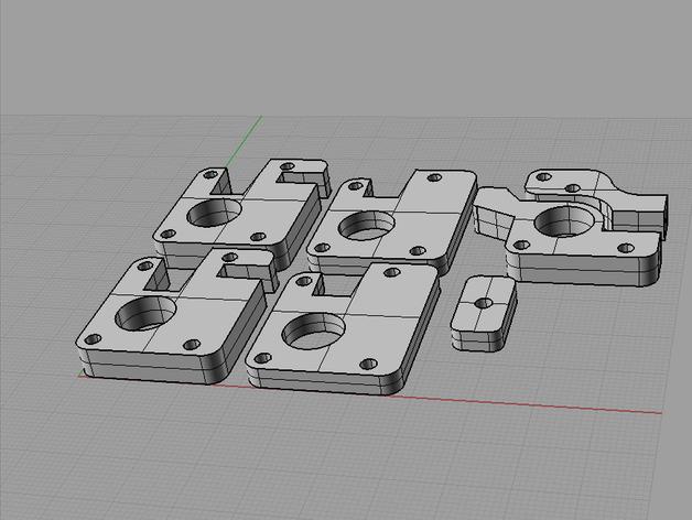 Ultimaker打印机XY轴的滑块 3D打印模型渲染图