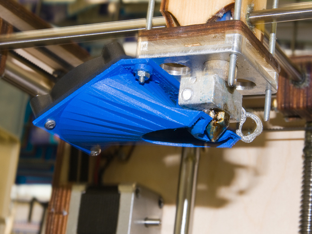 Ultimaker打印机的风扇导管 3D打印模型渲染图