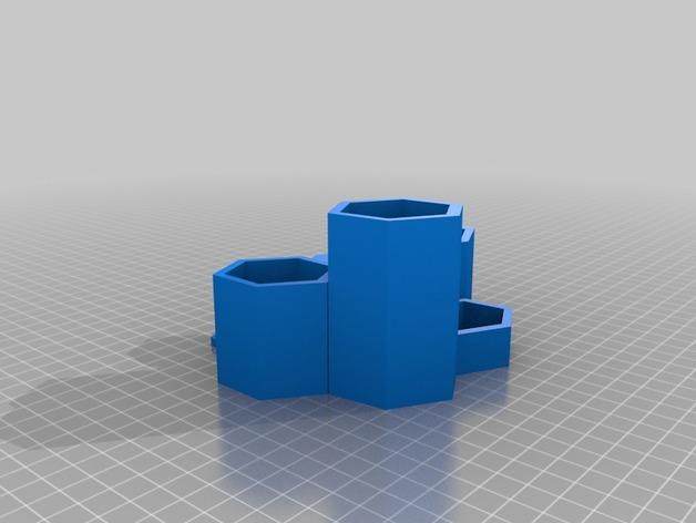 六边形的收纳盒