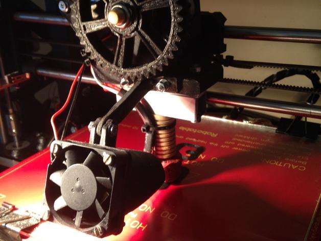风扇的支架 3D打印模型渲染图