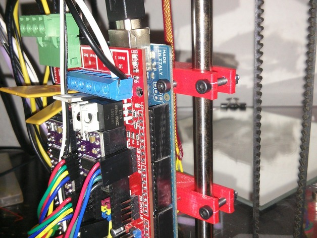 Ramps 1.4电路板支架 3D打印模型渲染图