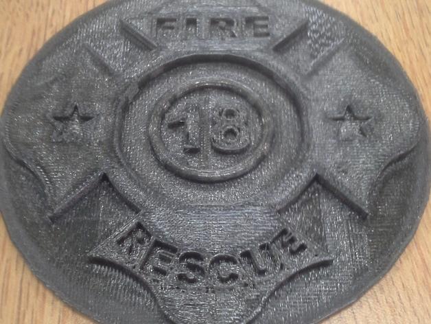Fire Department 胸章