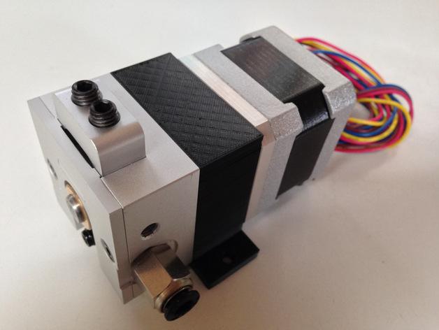 挤出机横梁支架 3D打印模型渲染图