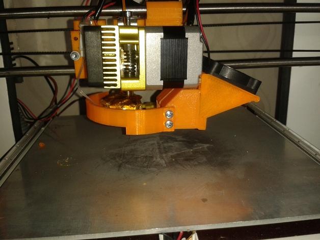 挤出机的风扇支架 3D打印模型渲染图