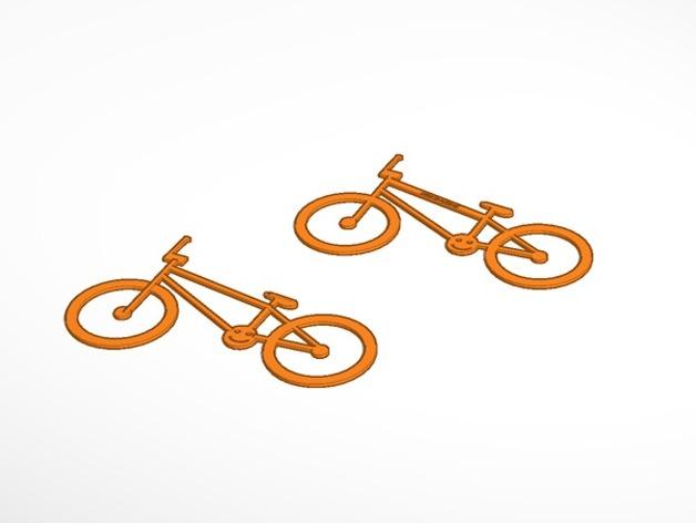 极限单车 吊坠 钥匙扣 3D打印模型渲染图