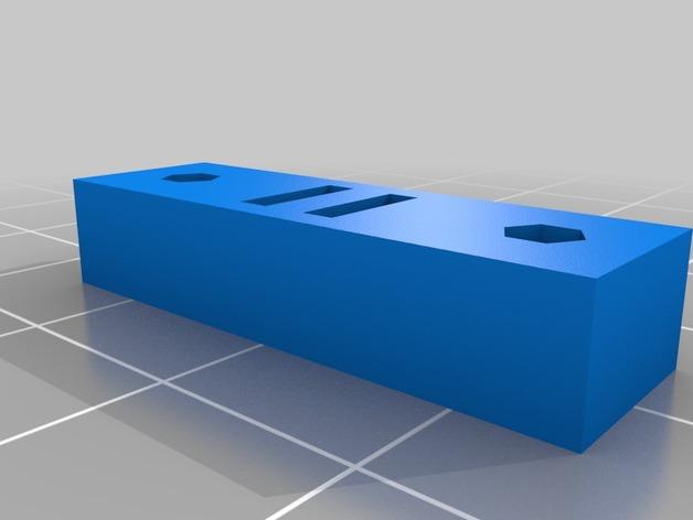 Printrbot Simple 打印机Y轴的皮带张紧器 3D打印模型渲染图