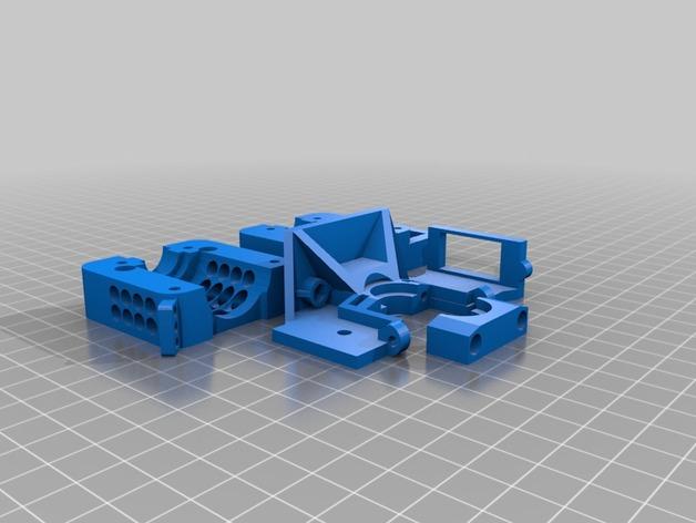 E3D 喷头支架 3D打印模型渲染图