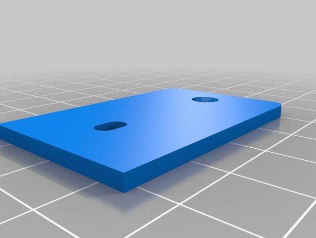 挤出机上的LED灯支架 3D打印模型渲染图