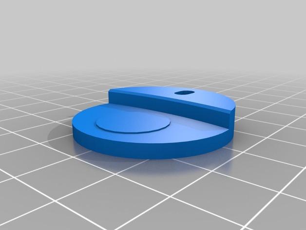 3DR delta式打印机打印床支撑器 3D打印模型渲染图