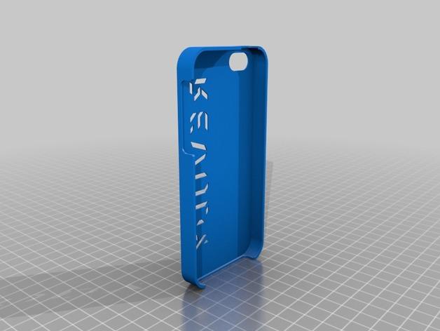 iphone5s手机的保护套 3D打印模型渲染图