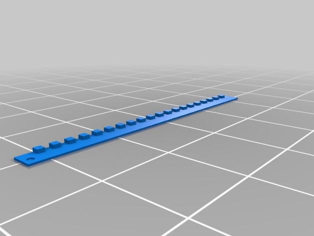双挤出机校准器 3D打印模型渲染图