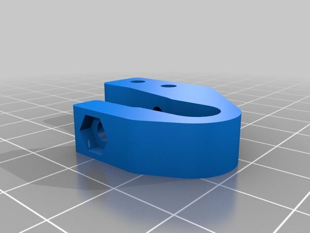 Prusa i3打印机Y轴的限位开关支架 3D打印模型渲染图