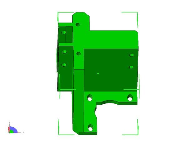 挤出机的支架 3D打印模型渲染图