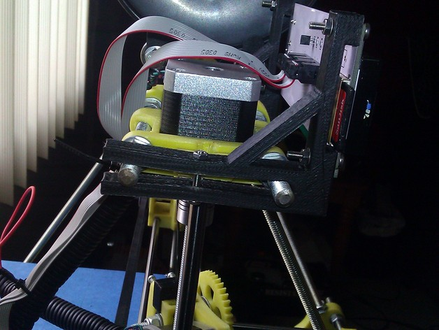 LCD显示屏支架 3D打印模型渲染图