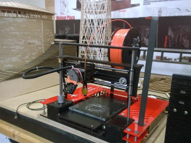 2Up打印机外罩和线轴支架 3D打印模型渲染图