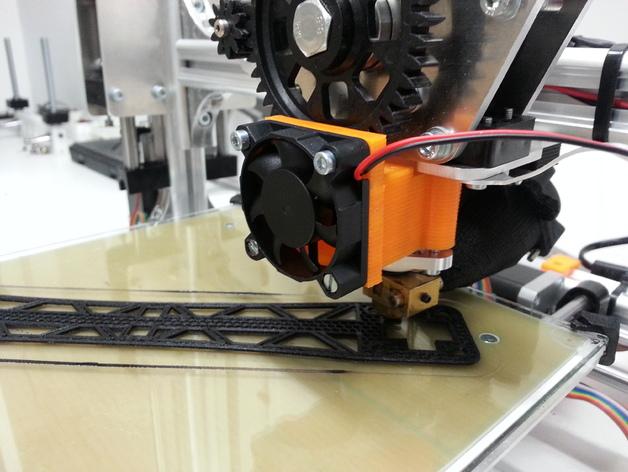 挤出机的风扇支架 风扇罩 3D打印模型渲染图