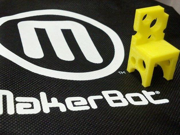 瑞士奶酪椅子 3D打印模型渲染图