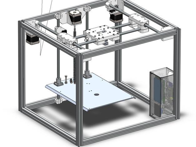 ramps和 RaspberryPi树莓派电路板的外罩 3D打印模型渲染图