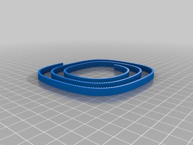正时皮带 3D打印模型渲染图