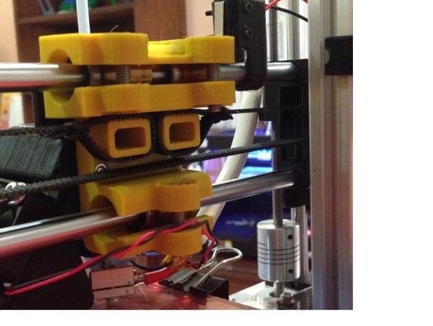 reprap prusa i3打印机X轴的部件 3D打印模型渲染图