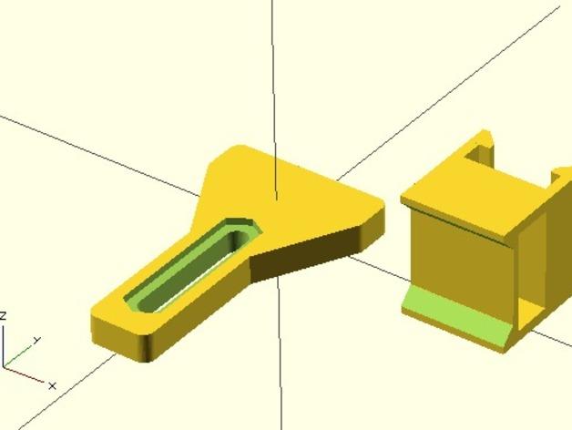 Y轴限位开关支架 3D打印模型渲染图