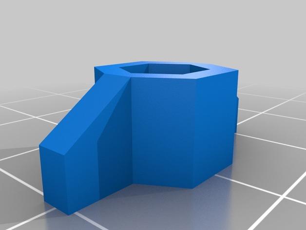 预埋螺母管 3D打印模型渲染图