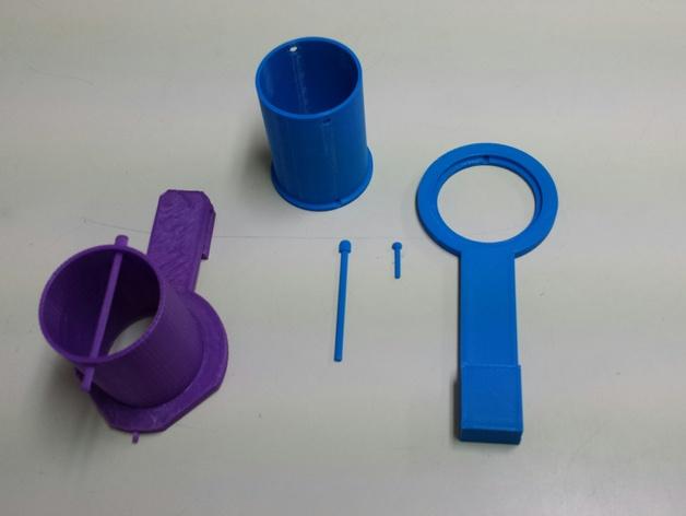 加大版的线轴支撑器 3D打印模型渲染图