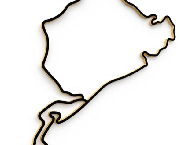 纽博格林赛道轮廓