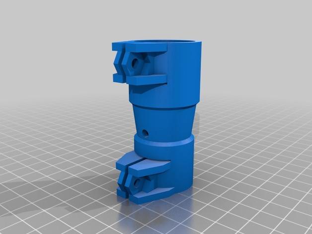 打印机的料斗接口管 3D打印模型渲染图